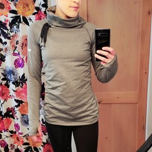 Nike pro grey turtle neck.  Soft fleece inside